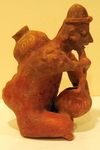 4122 - Jalisco Hunchback with Bowl & Gourd, San Sebastian Red